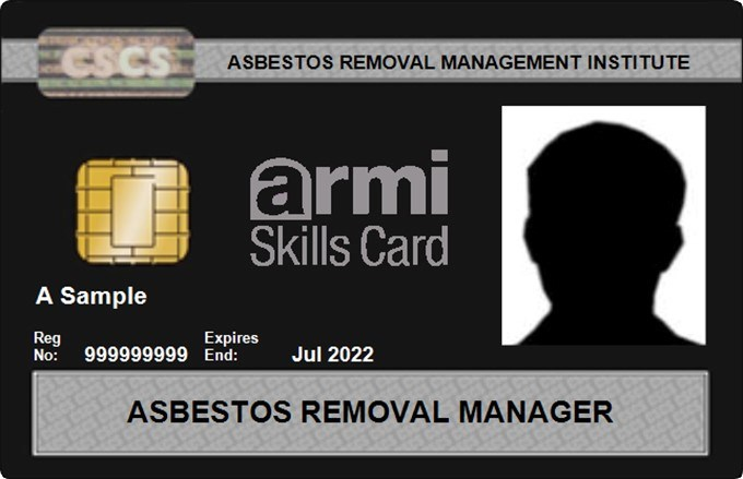 Asbestos Removal Manager Cards