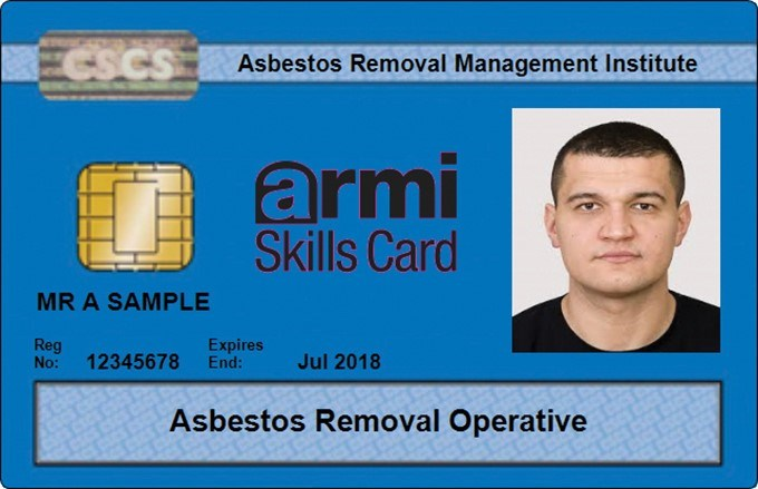 Asbestos Removal Operative Cards