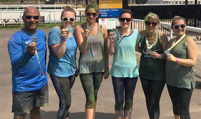 ARCA Staff complete Colour Obstacle Rush!