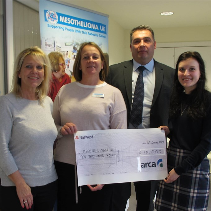 Members raise funds to support Mesothelioma UK