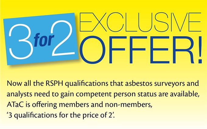 ATaC now offers the full range of RSPH Asbestos Qualifications