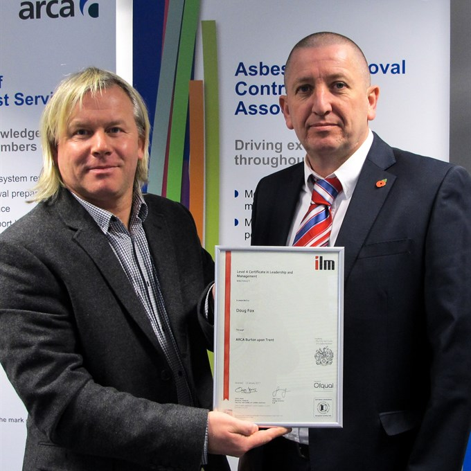 First Asbestos Manager to gain ARCA ILM Qualification