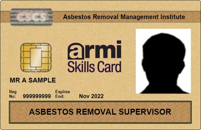 Asbestos Removal Supervisor Cards